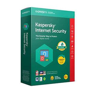 خرید آنتیویروس ارجینال کسپرسکای دوکاربره یکساله Kaspersky Internet Security 1+1U 1Y تجریش