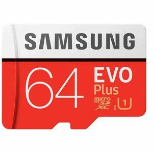 خرید کارت حافظهی سامسونگ 64 گیگابایت مدل Samsung Evo Plus 64GB UHS-I U3 Class 10 100MBps microSDXC With Adapter
